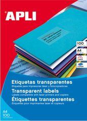 Apli Vremensko odporne etikete APLI 20 listov, prozorne, 210 x 297 mm 1/stran