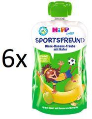 HiPP BIO Sport Hruška-Banán-Biele hrozno-Ovos 6 x 120 g