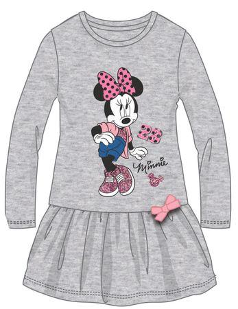 7f6d2448bbfc Disney by Arnetta dievčenské šaty Minnie 122 sivá