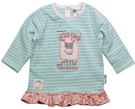 Gelati Dívčí tričko s volánky a ovečkou 62 zelená