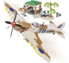Cobi SMALL ARMY II WW Supermarine Spitfire Lotnisko na pustyni