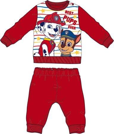 Disney by Arnetta dječja pidžama Paw Patrol, crvena, 92