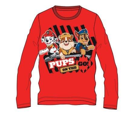 Disney by Arnetta koszulka dla chłopca Paw Patrol 80 czerwony