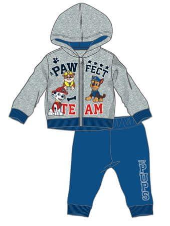Disney by Arnetta chlapčenská tepláková súprava Paw Patrol 80 šedá/modrá