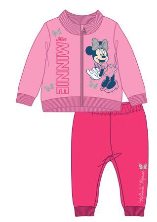 Disney by Arnetta dívčí tepláková souprava Minnie 80 růžová