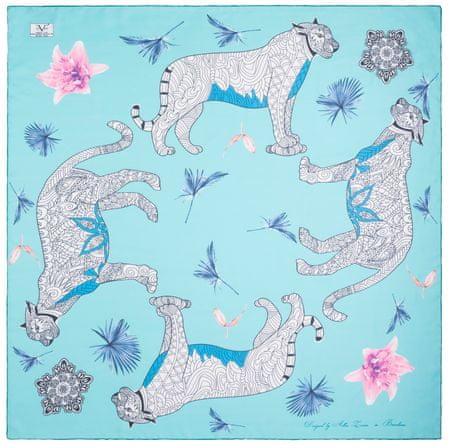 VERSACE 19.69 ženske marame svjetlo plava Wild Leopard