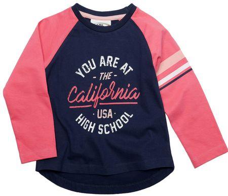 Gelati Dívčí tričko California 116 růžová/modrá