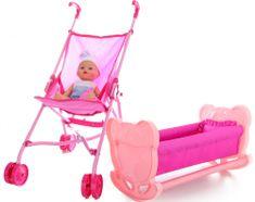 Lamps Sada 4v1 bábika, postieľka, golfky, doplnky