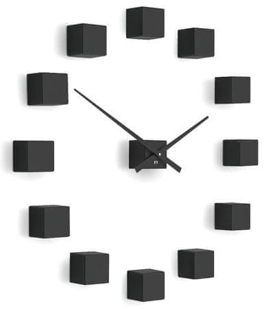 Future Time Designové nástěnné nalepovací hodiny FT3000BK Cubic black