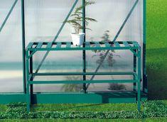 LanitPlast alumínium állvány LANITPLAST 126x50 cm egy db polccal zöld