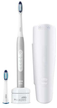 Oral-B szczoteczka elektryczna do zębów Pulsonic SLIM LUXE 4200 Platywnowy Edycja podróżna
