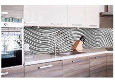 Dimex Fototapeta do kuchyne KI-260-103 Strieborné vlny 60 x 260 cm