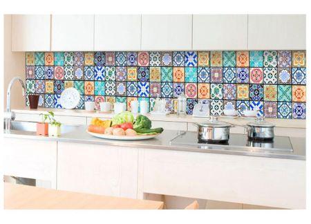 d8eebd0bfc7cf Dimex Fototapeta do kuchyne KI-350-079 Farebné dlaždice 60 x 350 cm ...