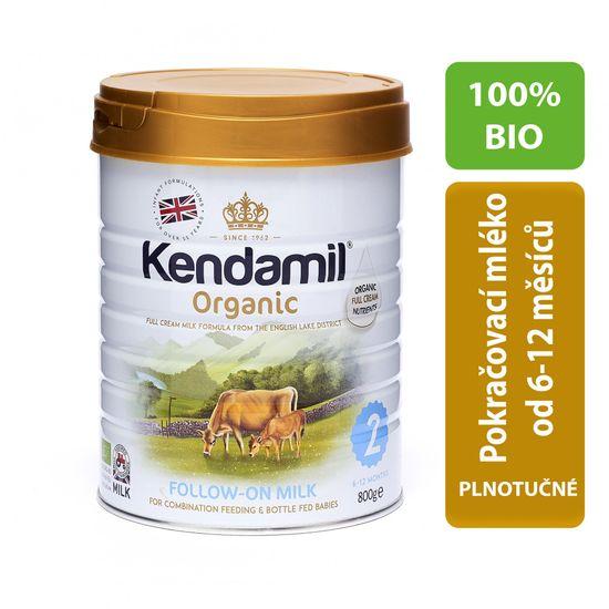 Kendamil 100 % BIO pokračovací mléko 2 - 800g + Good Gout BIO Banán 3x120g ZDARMA!