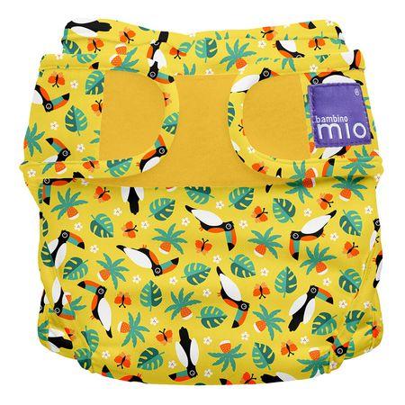 Bambinomio Miosoft plenkové kalhotky Tropical Toucan 3-9kg