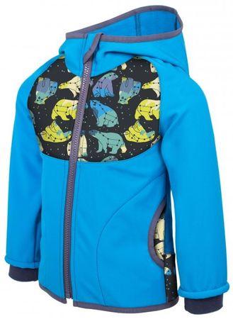Unuo Chlapecká softshellová bunda Souhvězdí medvěda 104 - 110 tyrkysová