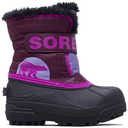 Sorel dziecięce śniegowce SNOW COMMANDER, 22, fioletowe
