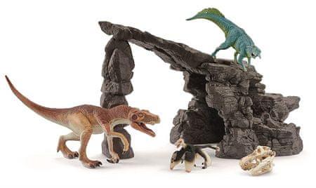 Schleich Barlang dinoszauruszokkal 41461
