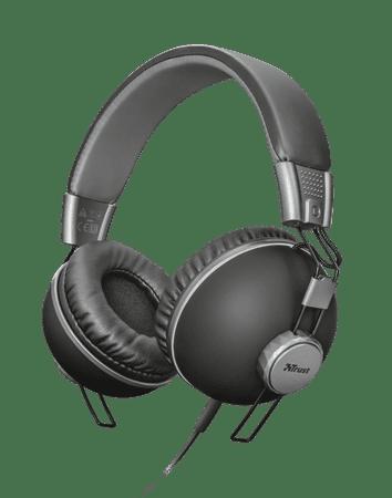 Trust slušalke Noma. črne