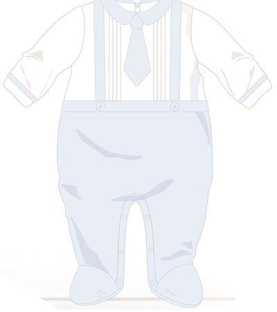 Cangurino chłopięce śpioszki, 50, białe/niebieskie