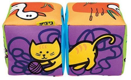 K´s Kids Szórakoztató textil kockák – Állatok