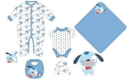 Cangurino komplet za dojenčad, plavi, 56