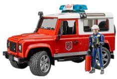 BRUDER 2596 Land Rover wóz strażacki