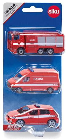 SIKU Készlet 3 tűzoltóautó - cseh verzió