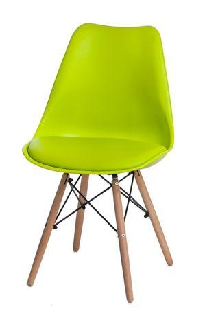 Mørtens Furniture Jídelní židle s dřevěnou podnoží Norby, lime green