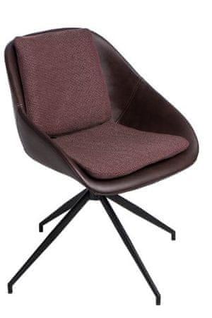 shumee Poter Soft vrtljiv stol temno rjave barve