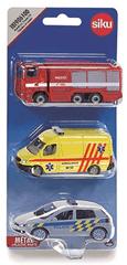 SIKU set 3 vozila, policijski, vatrogasni i auto hitne pomoći
