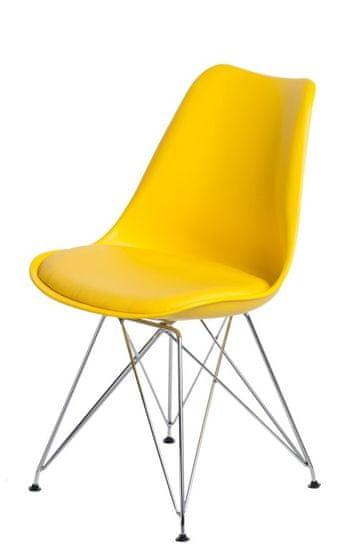 Mørtens Furniture Jídelní židle Norby, žlutá