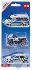 SIKU 3 pojazdy policyjne