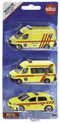 SIKU Sada 3 vozidiel ambulancia - česká verzia