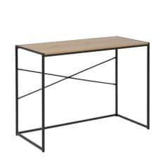 Design Scandinavia Pracovní stůl Seashell, 100 cm, Sonoma dub