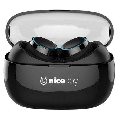 Bezdrátová sluchátka Niceboy HIVE pods automatické párování multifunkční tlačítko ovládání hlasitosti