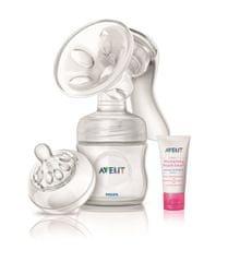 Philips Avent prsna črpalka mleka Natural s posodo 125 ml in kremo