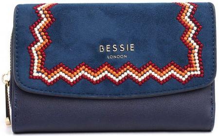 Bessie London Genesis női sötétkék pénztárca