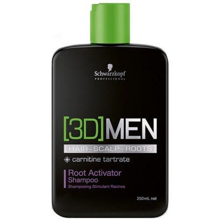 Schwarzkopf Prof. 3D aktivizáló sampon férfiaknak(Root Activator Shampoo) (mennyiség 250 ml)