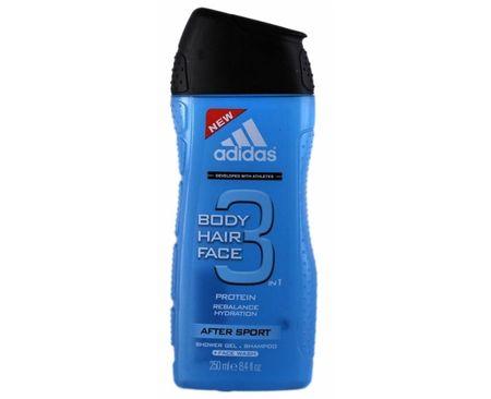 Adidas żel pod prysznic i szampon dla mężczyzn do włosów 3 w 1 ciało twarz po sportowe (Żel pod prysznic i