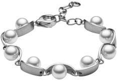 Skagen Dámsky oceľový náramok s perličkami SKJ0761040