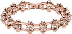Emporio Armani Luksusowa bransoletka z brązu z kryształami EGS209322116.5
