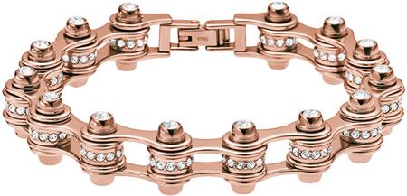 Emporio Armani Luxusné bronzový náramok s kryštálmi EGS209322116.5