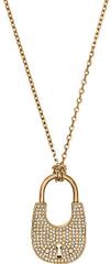Michael Kors Dlouhý zlatý náhrdelník se zámkem MKJ4892710