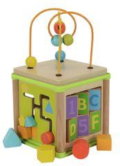 Simba motorična večnamenska lesena kocka