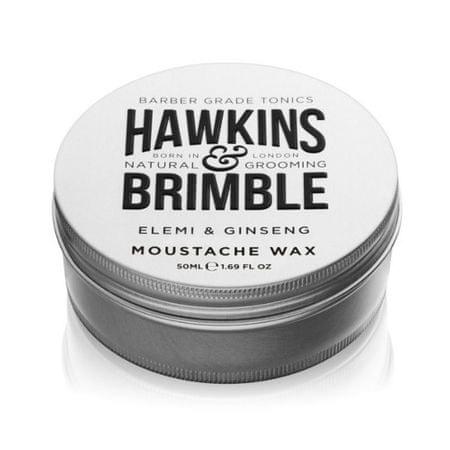 Hawkins & Brimble Styling bajuszformázó wax elemi és ginzeng illattal (Elemi & Ginseng Moustache Wax) 50 ml