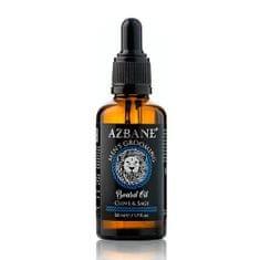 Azbane Ošetrujúci olej na fúzy s arganovým olejom Klinčeky a šalvia (Beard Oil) 30 ml
