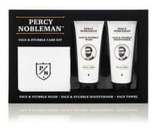 Percy Nobleman Pánska darčeková sada starostlivosti o pleť a fúzy (Face & Stubble Care Kit)
