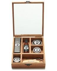Percy Nobleman Luxusní dárková sada péče o vousy a knír v dřevěném boxu