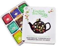 English Tea Shop Darčeková plechová kazeta - luxusné čaju 72 sáčkov / 9 príchuťou